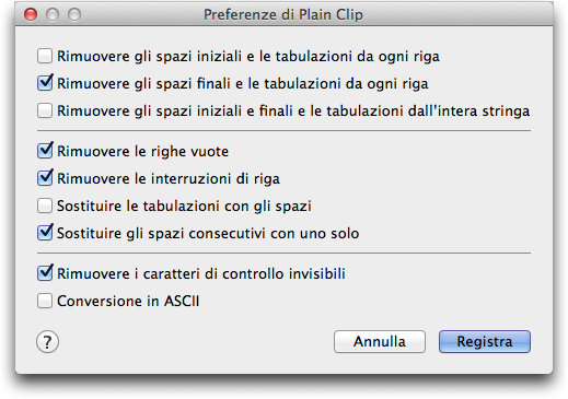 Plain-Clip-preferenze