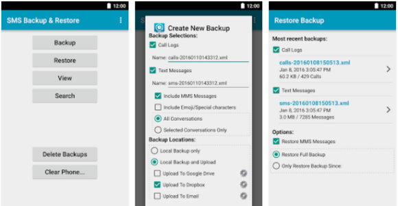 APP per backup SMS Android