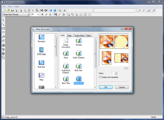Creare copertine per cd dvd e bluray disc gratis geekoo for Software gratuito per il layout del garage
