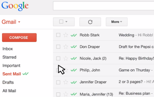 gmail tracking email