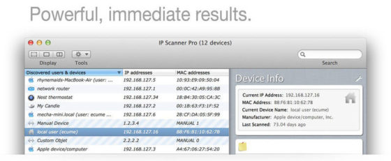 ip scanner mac